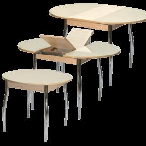 стол гала-3 круглый раздвижной